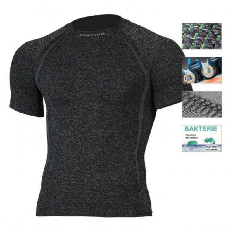 Pánske triko Lasting Toso 8990 čierna S/M