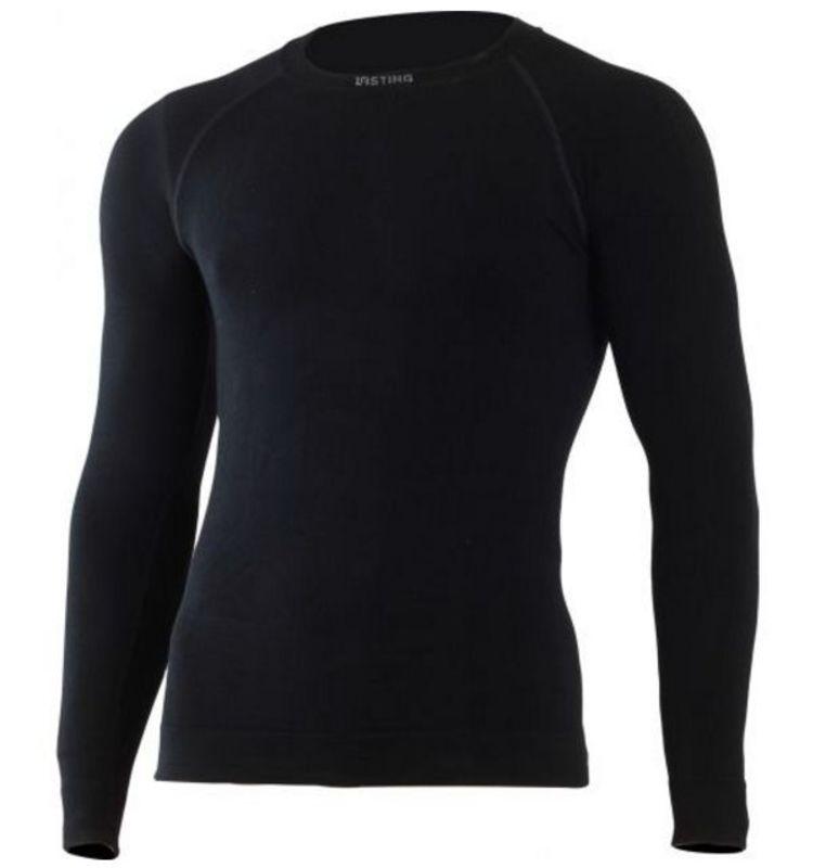 Pánske Merino triko Lasting Wolf 9090 čierne S/M