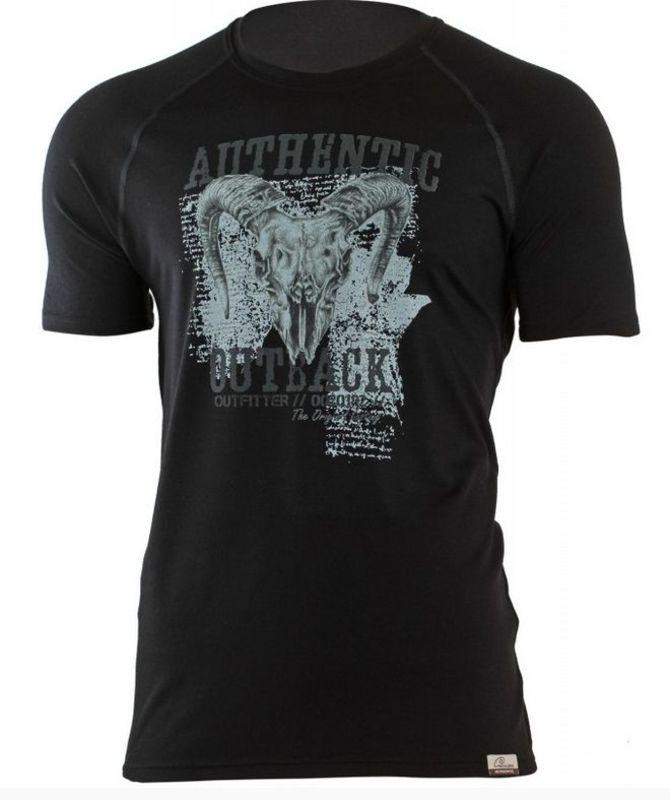 Pánske vlnené triko Lasting Henry 9090 čierna XL