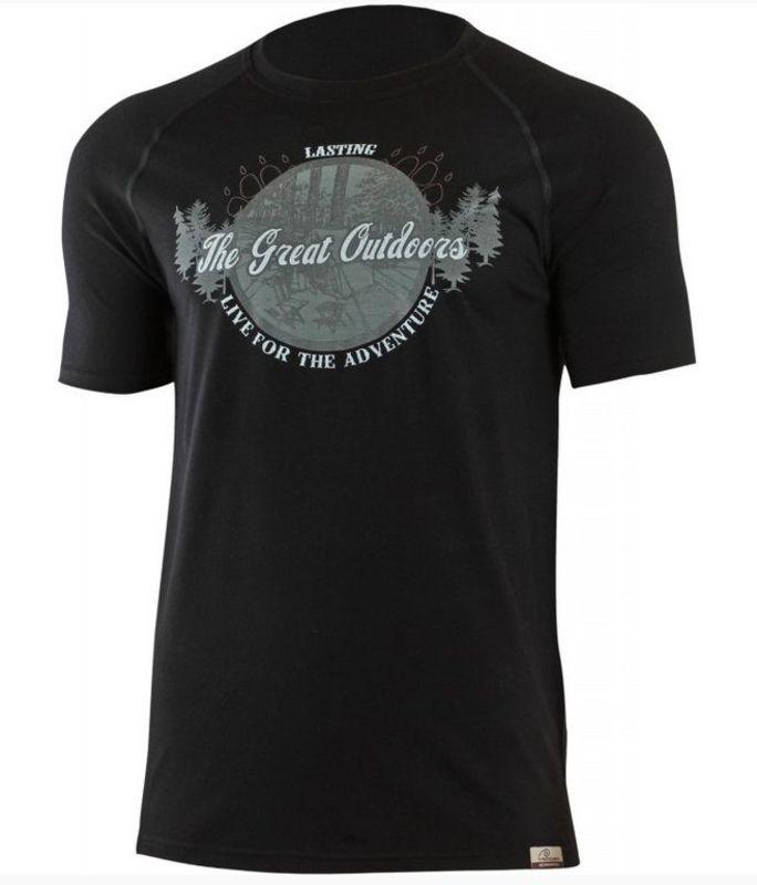 Pánske vlnené triko Lasting Lucas 9090 čierna S