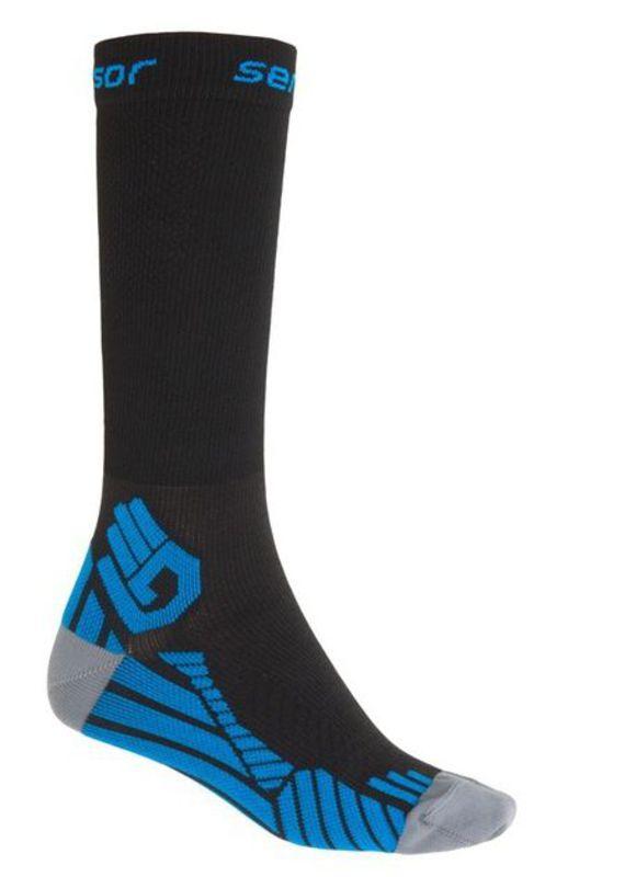 Ponožky Sensor Compress čierna 15100128 3/5 UK