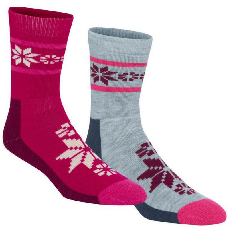 Ponožky Kari Traa RUSA WOOL SOCK 2PK ROSE