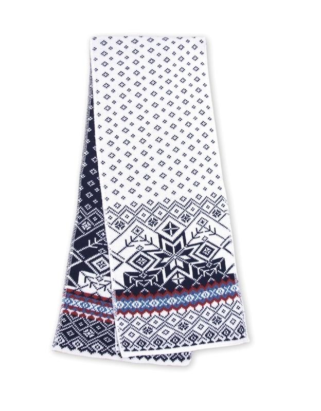 Pletená šál Kama SB06 100 biela