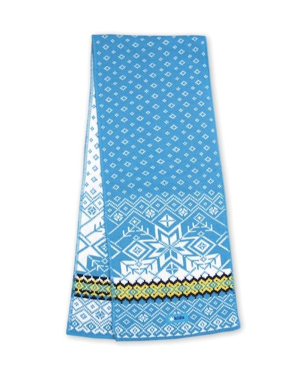Pletená šál Kama SB06 115 tyrkysová