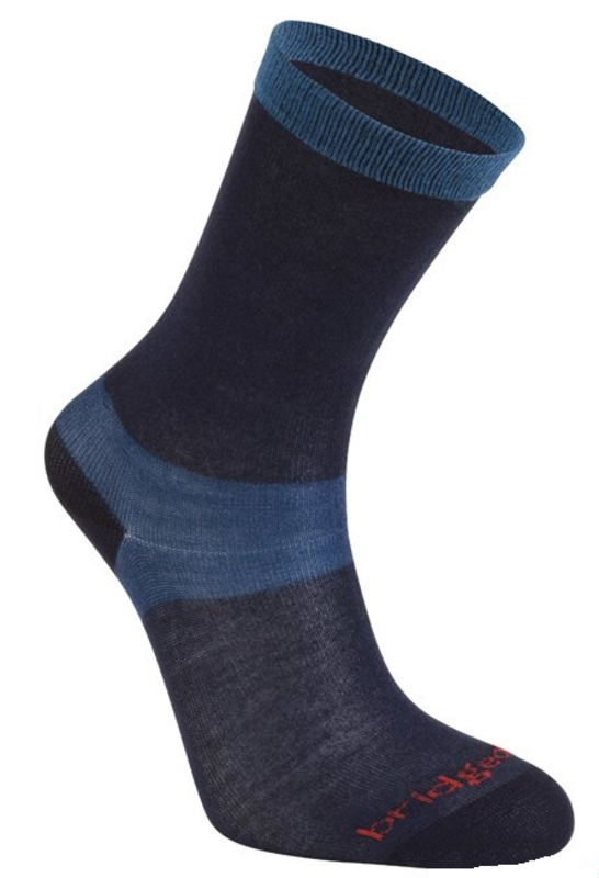 Ponožky Bridgedale Liner Base Layer Coolmax Liner Boot Women s x2 navy 445 5c97dfbd01