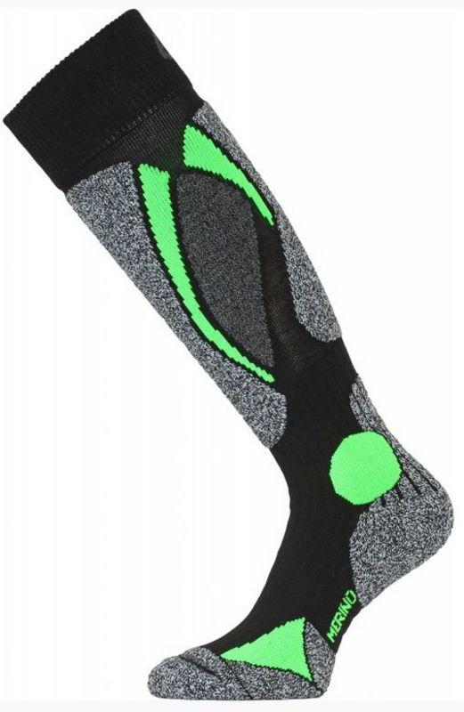 Lyžiarske ponožky Lasting SWC 906 čierna L (42-45)