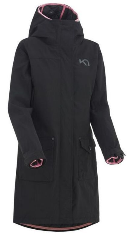 Dámsky kabát 3 v 1 Kari Traa Dalane Black XS