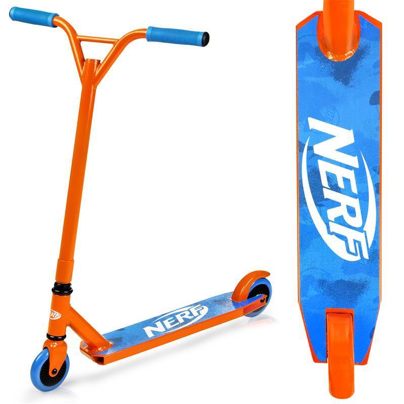 Kolobežka freestyle HASBRO STRIKE NERF oranžovo-modrá