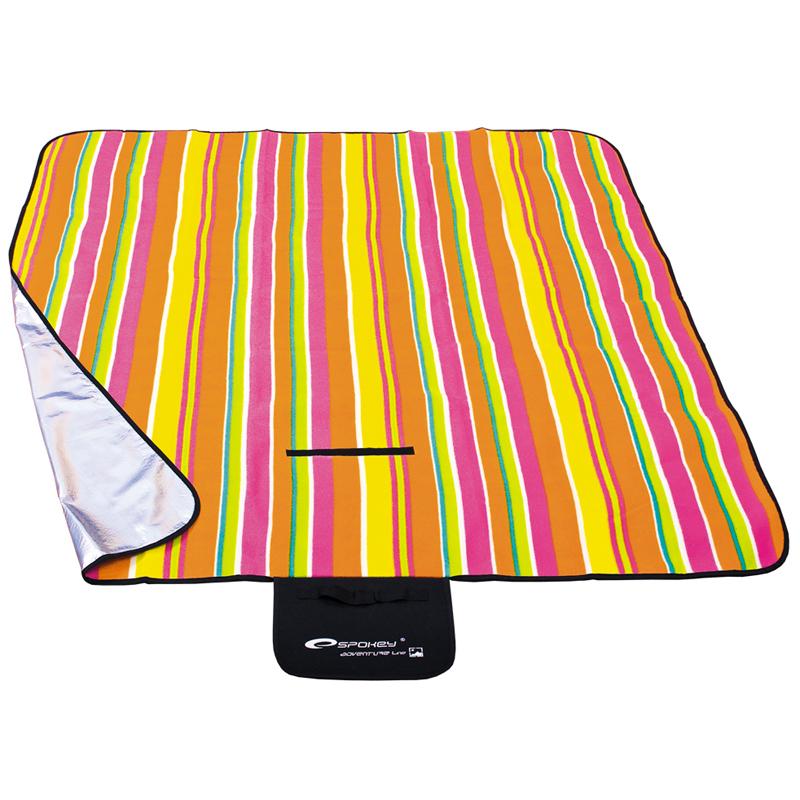 Pikniková deka Spokey Picnic Strips 130x150 cm farebný prúžok