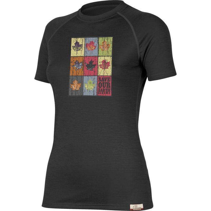 Tričko Lasting ZOZNAM 9090 čierne vlnené L