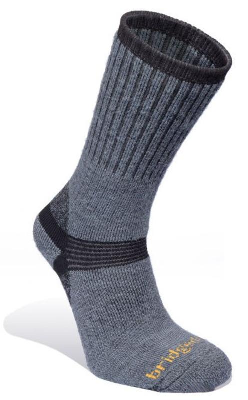 Ponožky Bridgedale Merino Hiker gunmetal / black 863