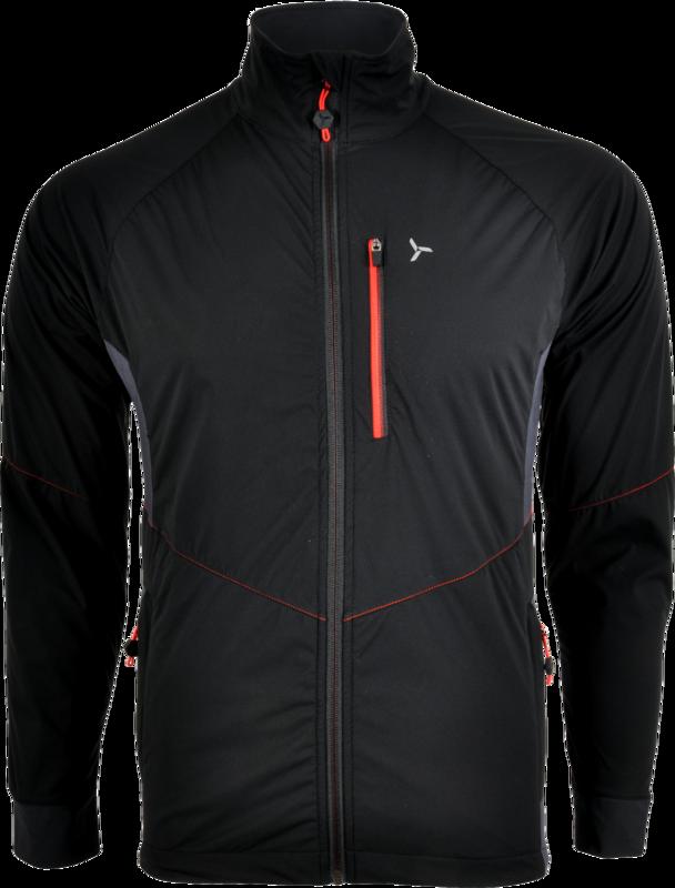 Pánska bunda Silvini Natisone MJ1100 black-red S