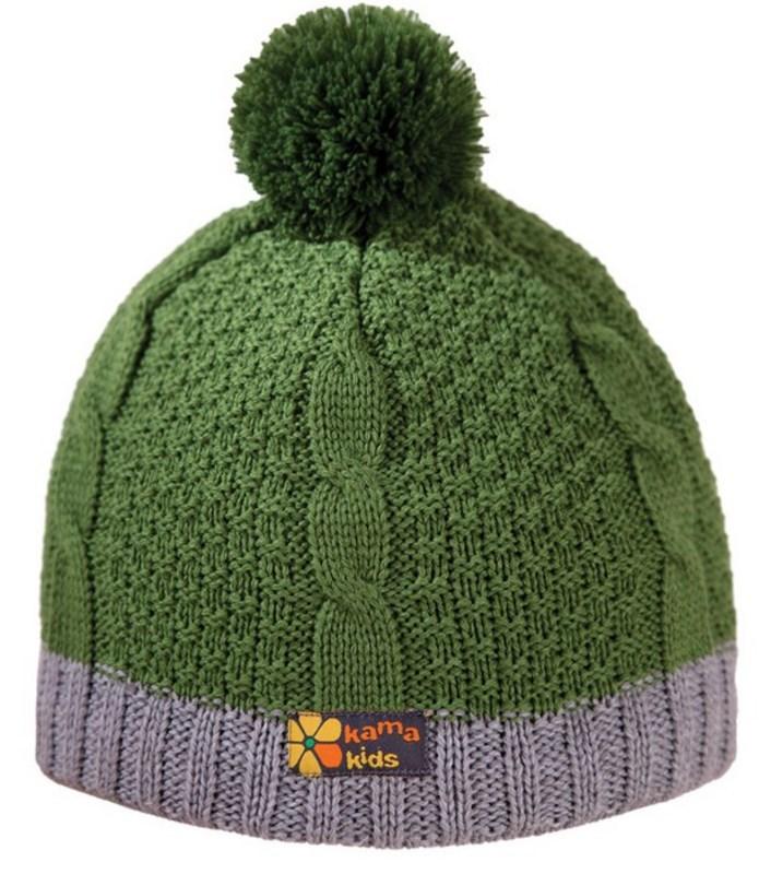 72fd219c7d5d Detská pletená čiapka Kama B69 105 zelená