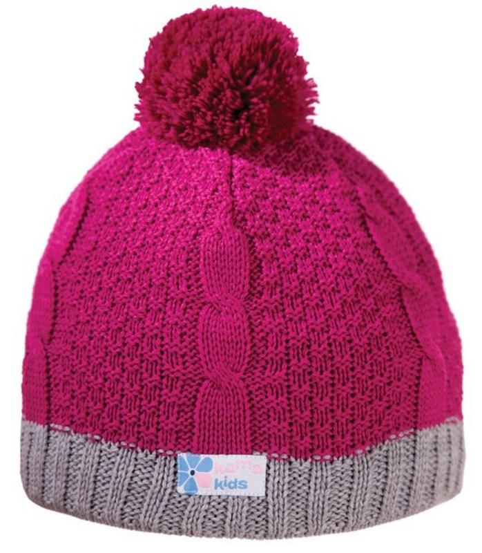 Detská pletená čiapka Kama B69 114 ružová