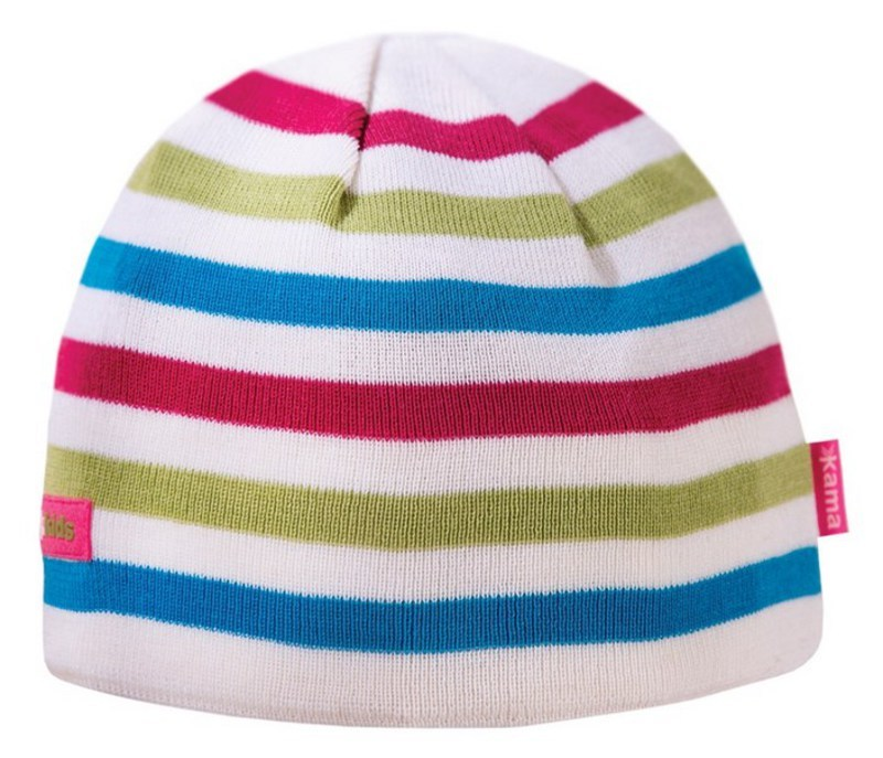 Detská pletená čiapka Kama B70 100 biela
