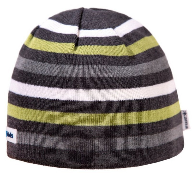 Detská pletená čiapka Kama B70 111 tmavo sivá