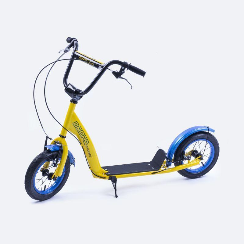"""Kolobežka Spokey DROPS nafukovacie 12"""" kolesá žltá"""