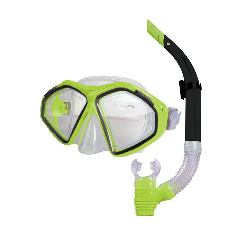 Sada okuliare + šnorchel Spokey KRAKEN II limeta