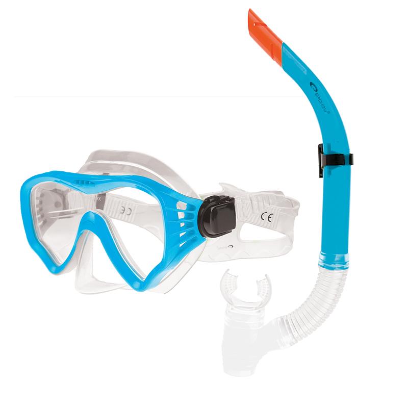Sada okuliare + šnorchel Spokey GOMERA modré