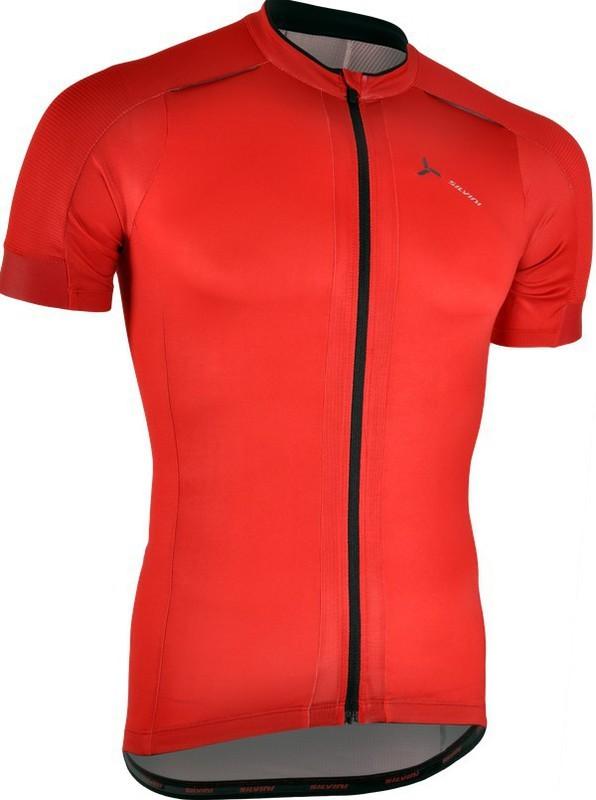 Pánsky cyklistický dres Silvini CENO MD1000 red-black