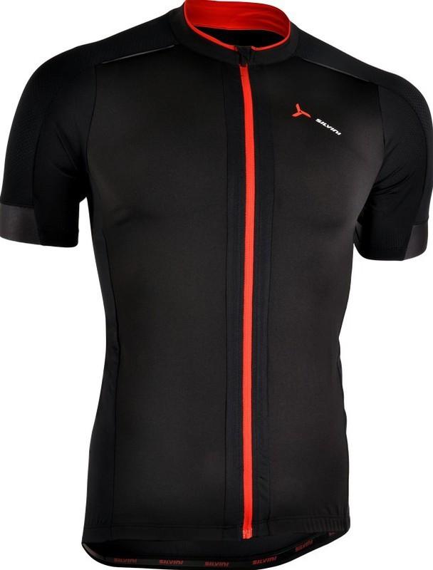 Pánsky cyklistický dres Silvini CENO MD1000 black-red