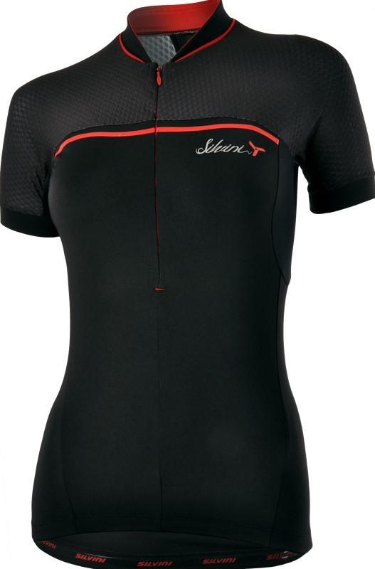 Dámsky cyklistický dres Silvini CATIRINA WD1002 black-red