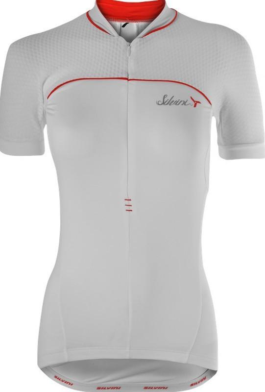 Dámsky cyklistický dres Silvini CATIRINA WD1002 white-red
