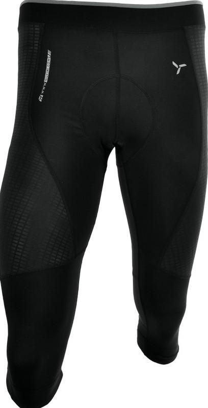 Pánske 3/4 cyklistické nohavice Silvini FORTORE MP1005 black