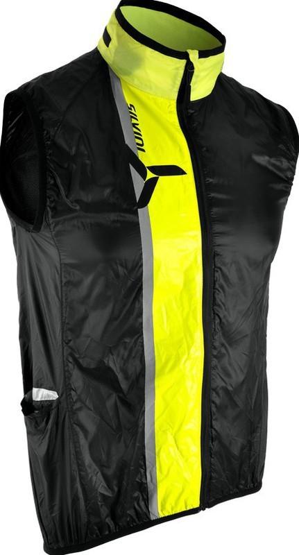 Cyklistická vesta Silvini GARCIA MJ803 black-neon L