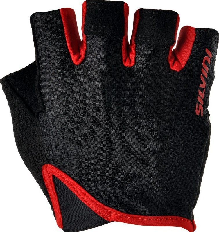 Pánske rukavice Silvini GRUE MA1007 black-red M