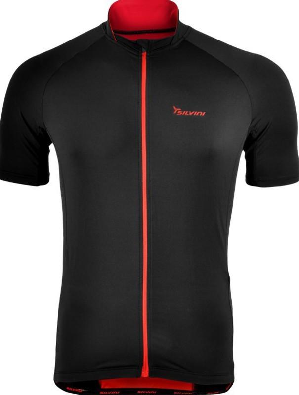 Pánsky cyklistický dres Silvini PESCARA MD1025 black-red