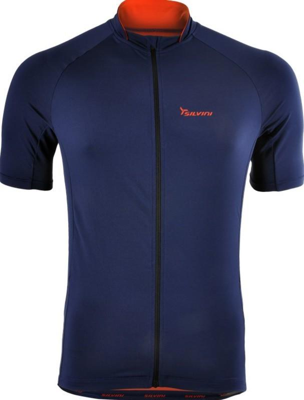 Pánsky cyklistický dres Silvini PESCARA MD1025 navy-orange