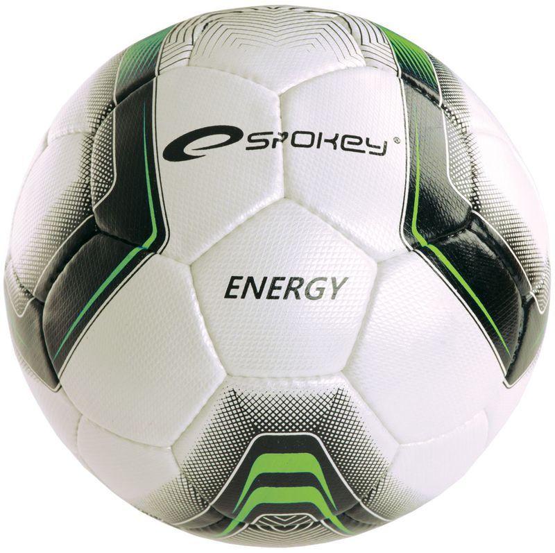 Futbalový lopta Spokey ENERGY bielo-zelený vel.4