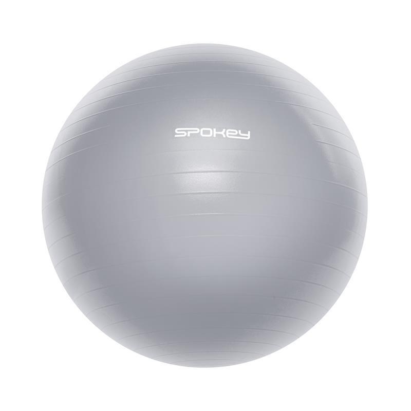 Gymnastický lopta Spokey FITBALL III 65 cm vrátane pumpičky šedý