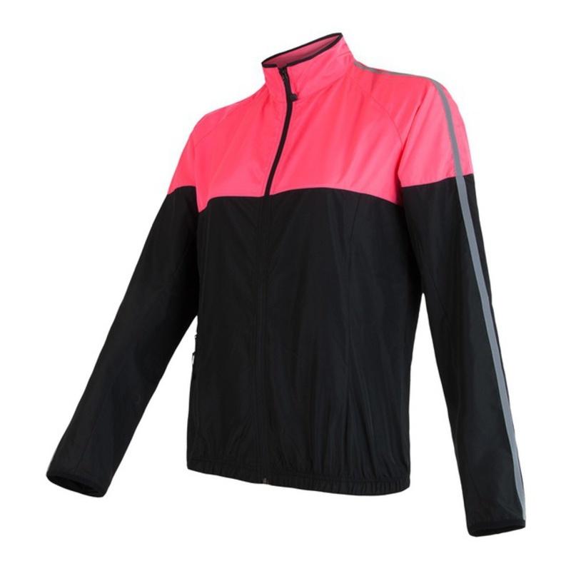 Dámska bunda Sensor NEON čierna / ružová reflex 17100116 L