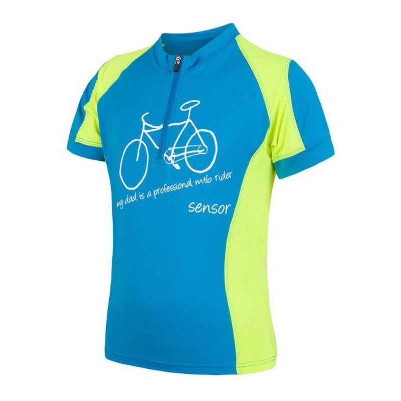 Detský cyklo dres Sensor CYKLO ENTRY modrá/žltá reflex 17100102