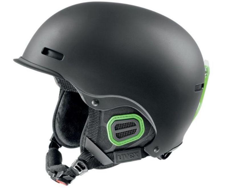 Lyžiarska helma UVEX HLMT 5 PRO, black-green mat (S566146270*)