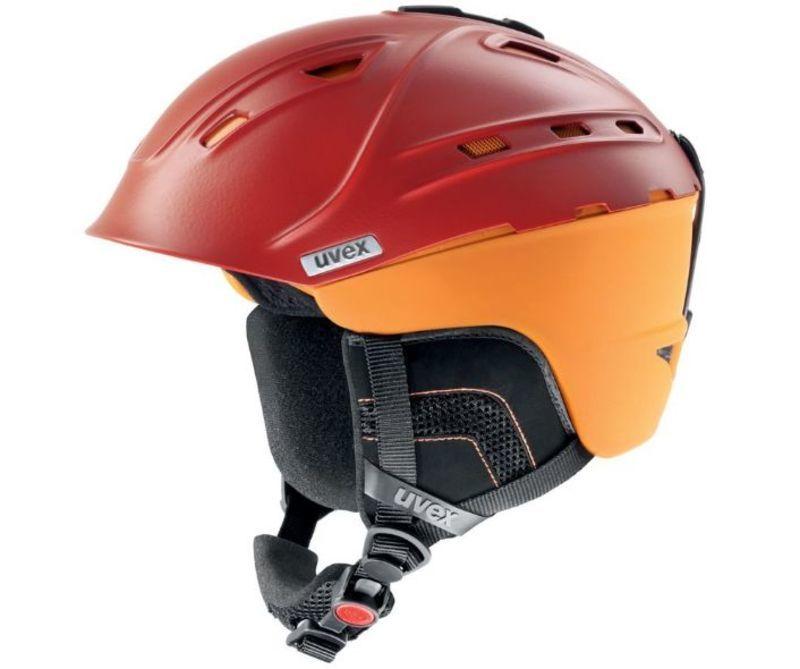 Lyžiarska helma UVEX P2US, blood-orange mat (S566178300*)