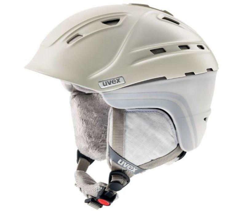 Lyžiarska helma UVEX P2US WL, creme / grey mat (S566178150*)
