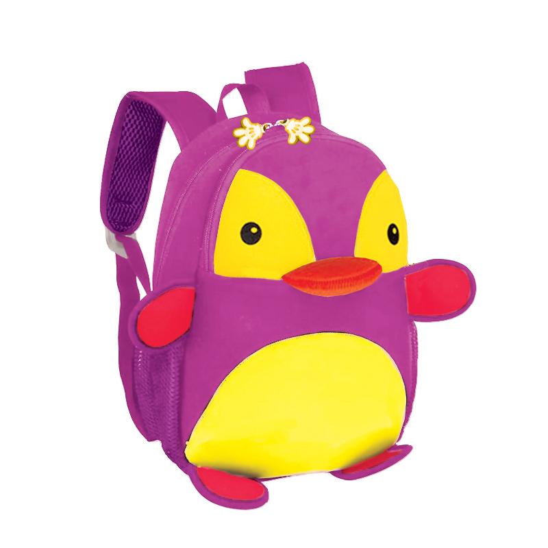 Batoh Spokey neoprénový - detský tučniak žlto-ružový