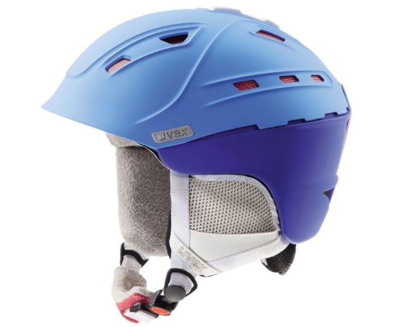 Lyžiarska helma UVEX P2US WL, blue-red mat (S566178430*)