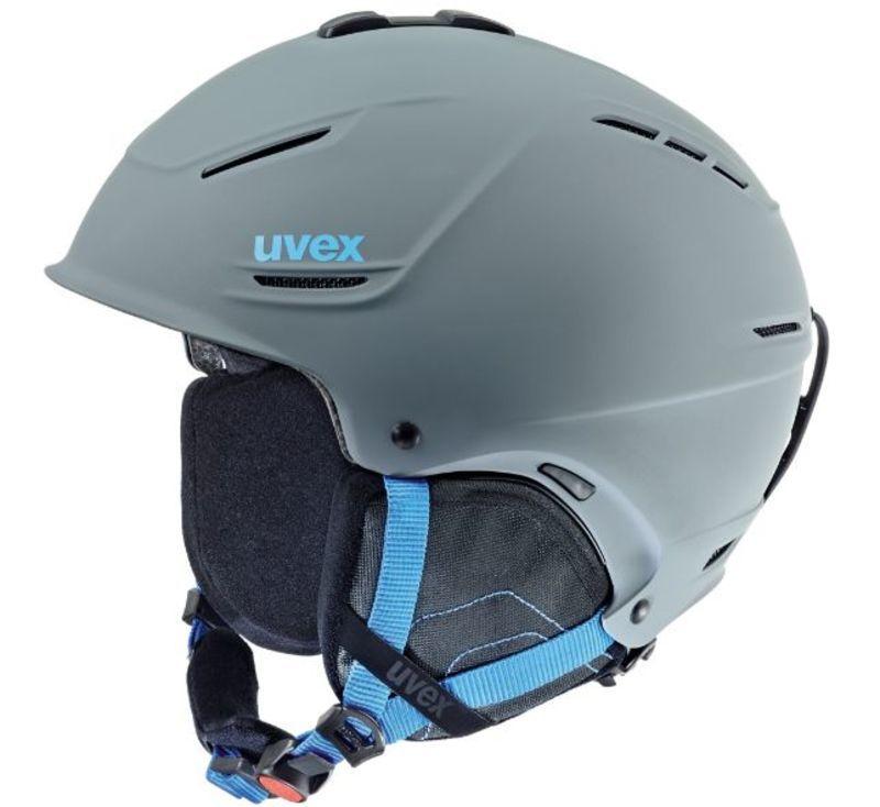 Lyžiarska helma UVEX P1US, grey-blue mat (S566153540*)