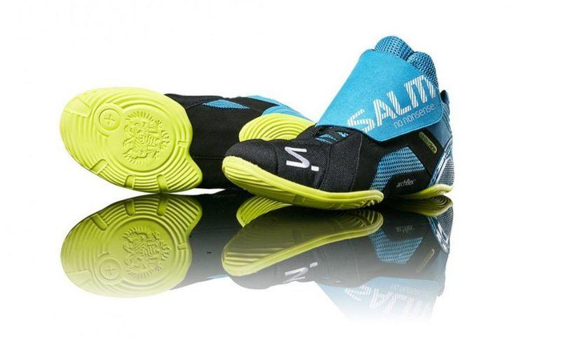 Topánky Salming Slide 5 Goalie Shoe Cyan / Black 37