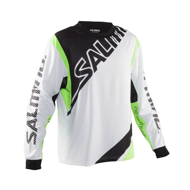 Brankársky dres Salming Phoenix Goalie Jsy SR White / GeckoGreen