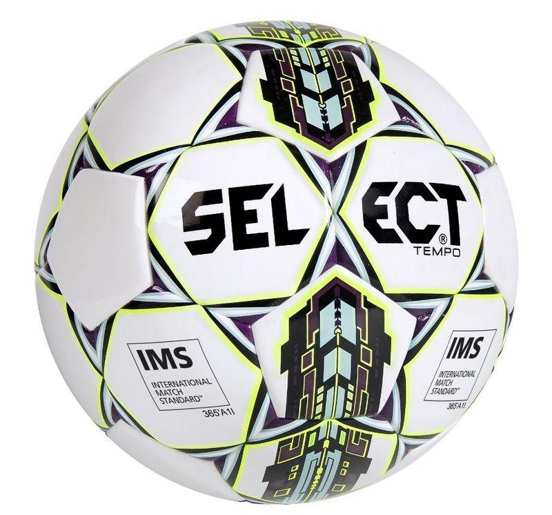 Futbalový lopta Select TB Tempo bielo fialová