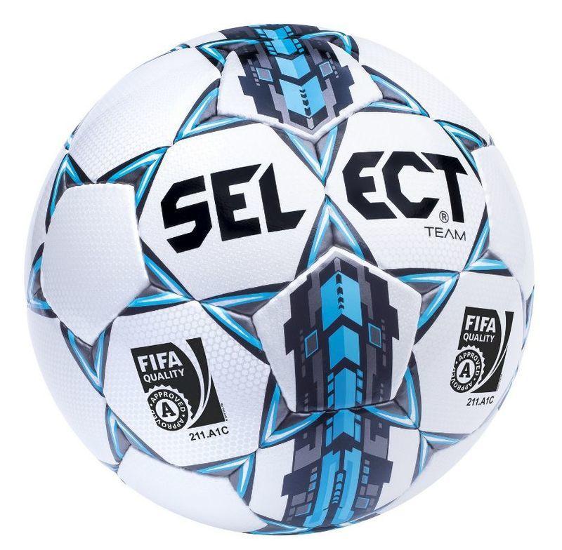 Futbalový lopta Select FB Team FIFA bielo modrá