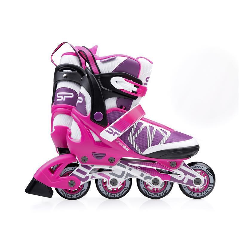 Kolieskové korčule Spokey SPEEDSTAR ružové