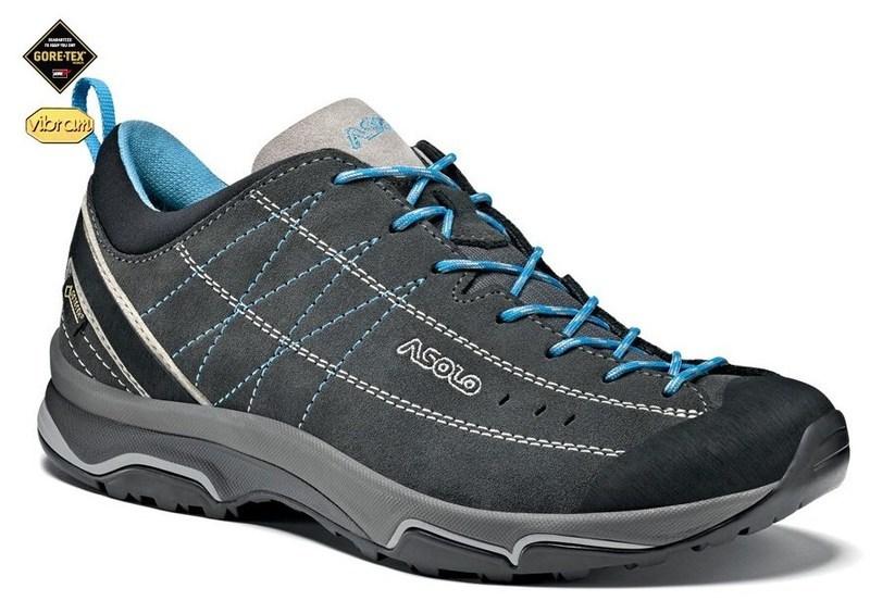 Topánky Asolo nucleon GV ML graphite / silver / cyan blue/A772