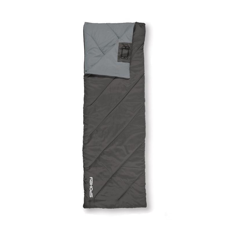 Spacie vrece Spokey PACIFIC deka, pravé zapínanie - čierno-šedý