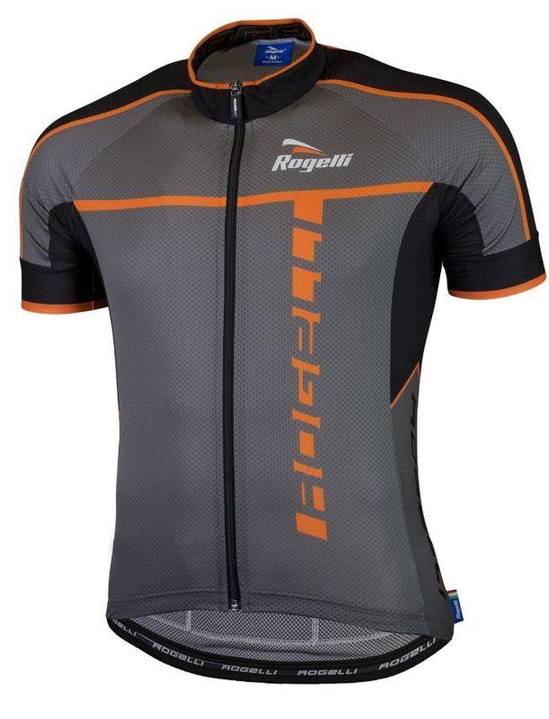 Ultraľahký cyklistický dres Rogelli UMBRIA 2.0 s krátkym rukávom, šedo-oranžový 001.250.